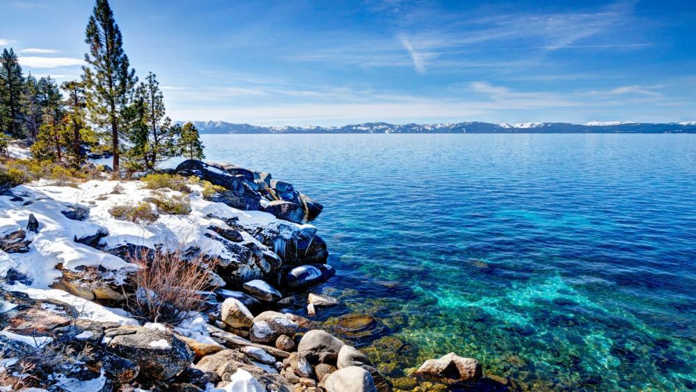 Lake Tahoe in winter wallpaper