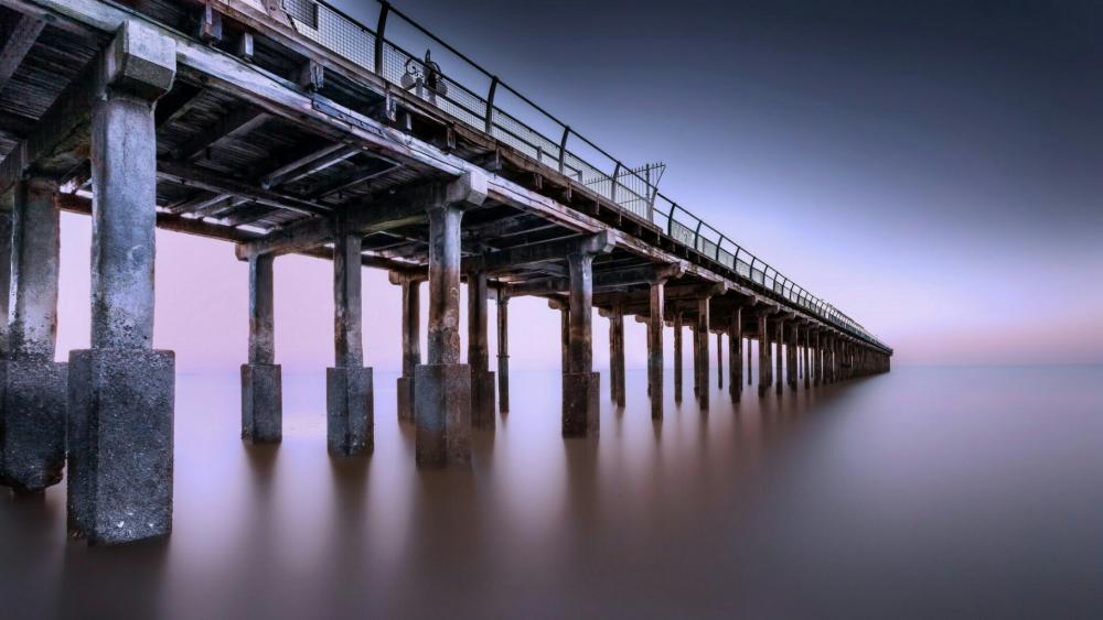Ocean beach pier wallpaper