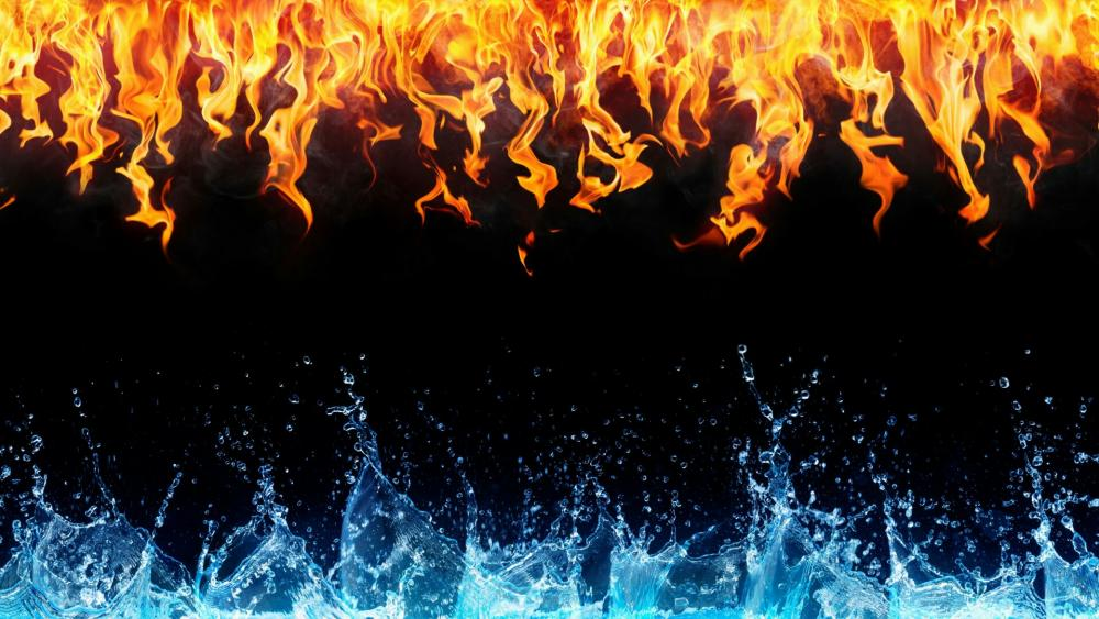 Water & Fire   wallpaper