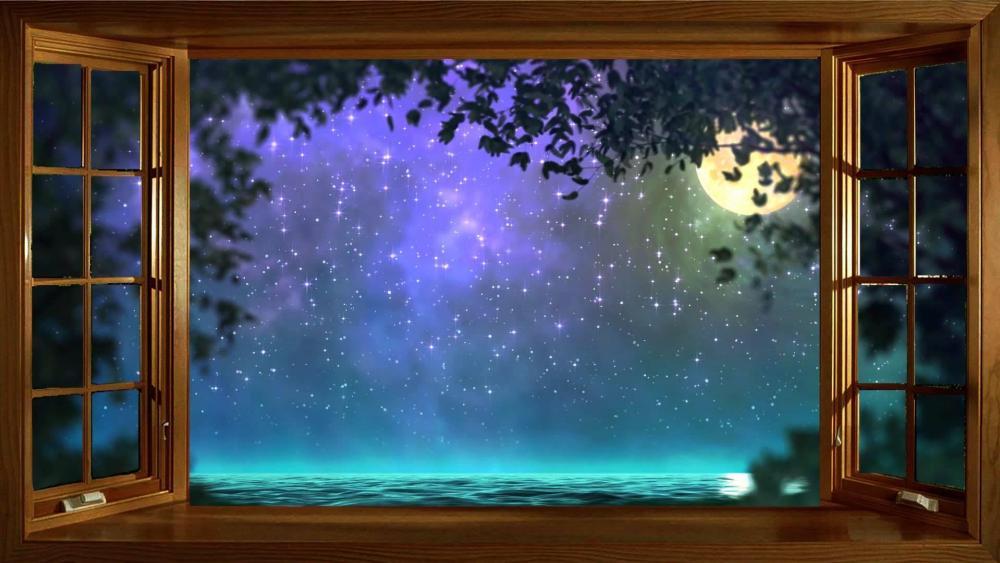 Open window to fantasy wallpaper