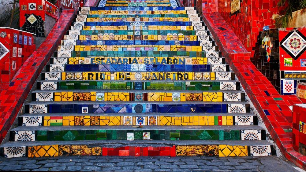 Escadaria Selaron wallpaper