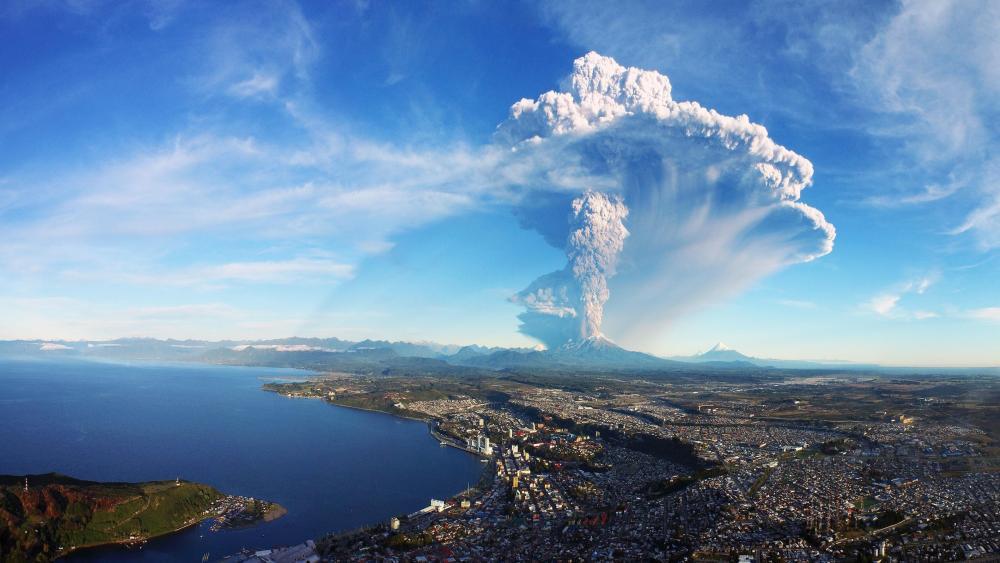 2015 Calbuco volcano eruption wallpaper
