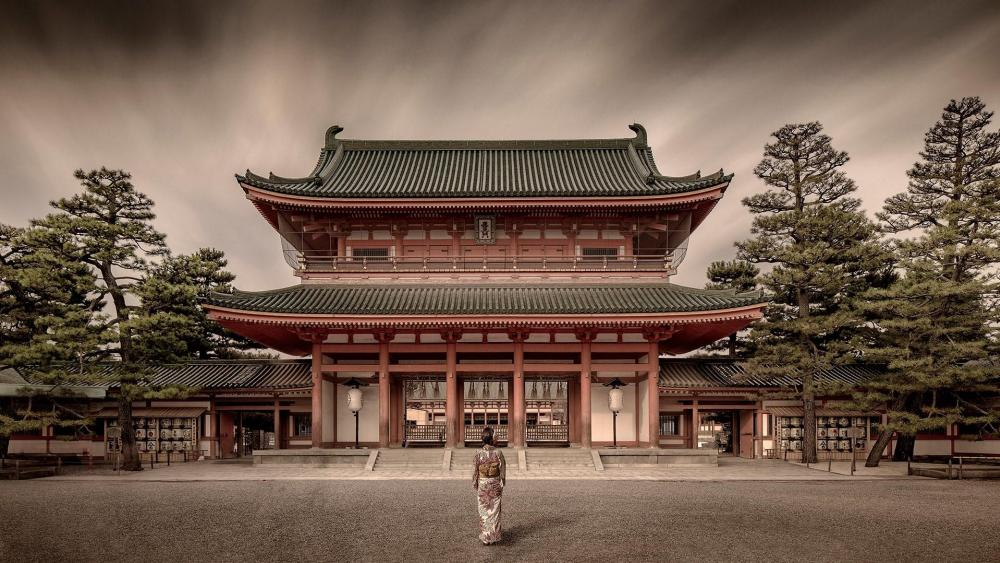 Heian Shrine (Japan) wallpaper