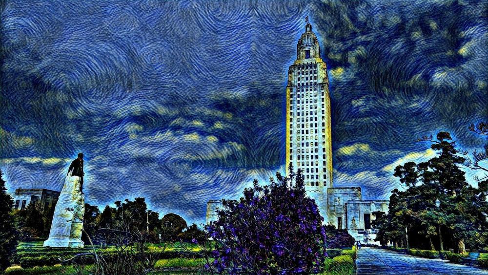 Baton Rouge Starry Night wallpaper