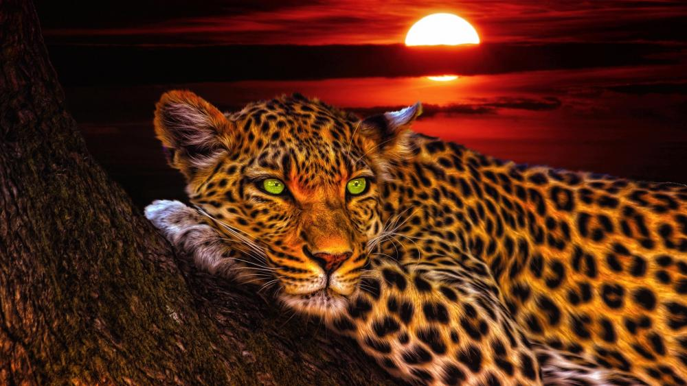 Leopard artwork wallpaper