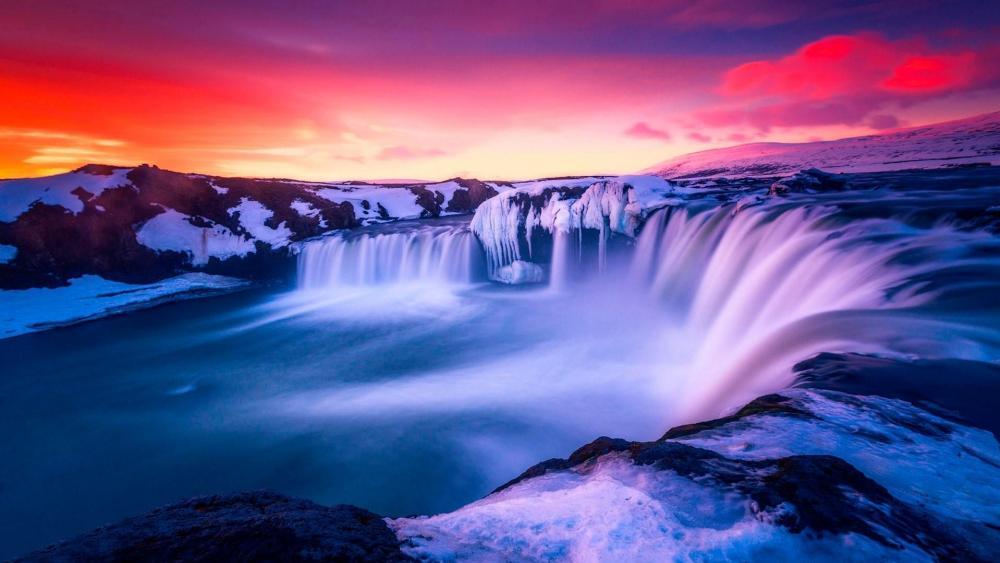 Godafoss waterfall wallpaper