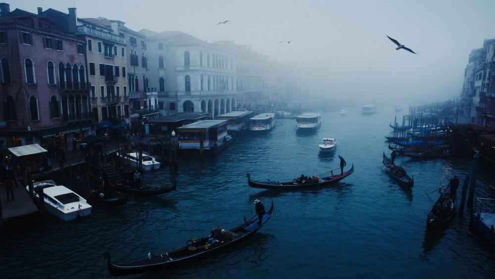 Grand Canal at dusk wallpaper