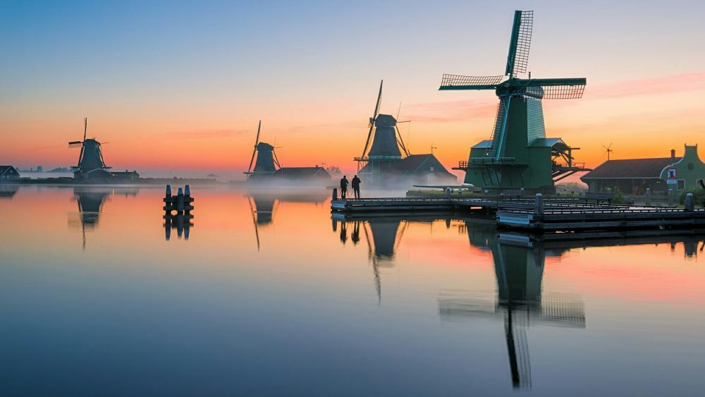 Zaanse Schans windmills wallpaper