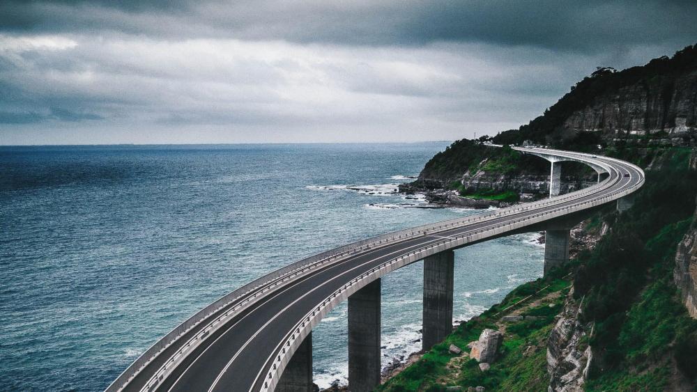 Sea Cliff Bridge, Clifton, Australia - Grand Pacific Drive wallpaper