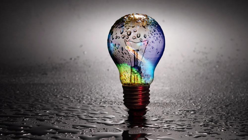 Light bulb colors wallpaper