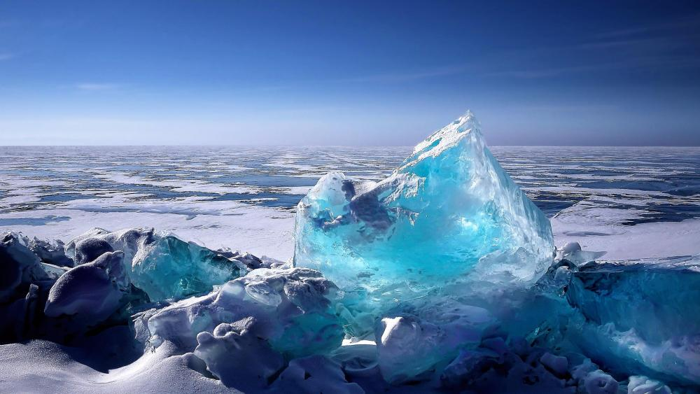 Baikal blue ice wallpaper