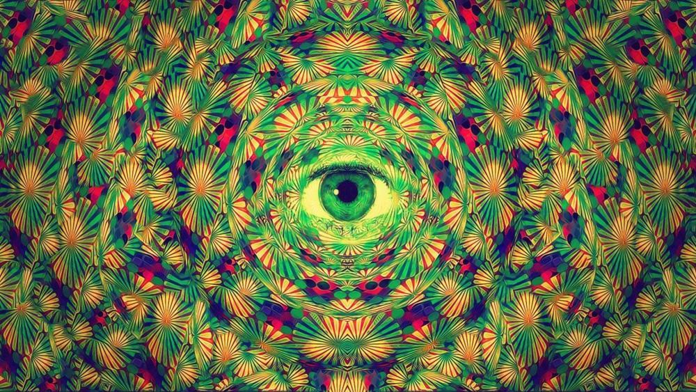 Trippy eye wallpaper