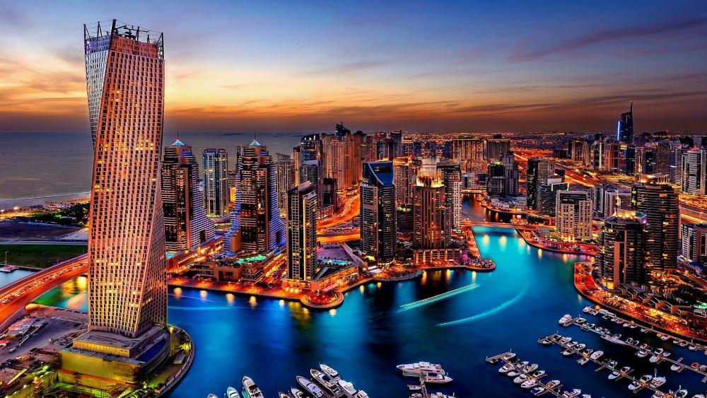 Dubai Marina Sunset wallpaper