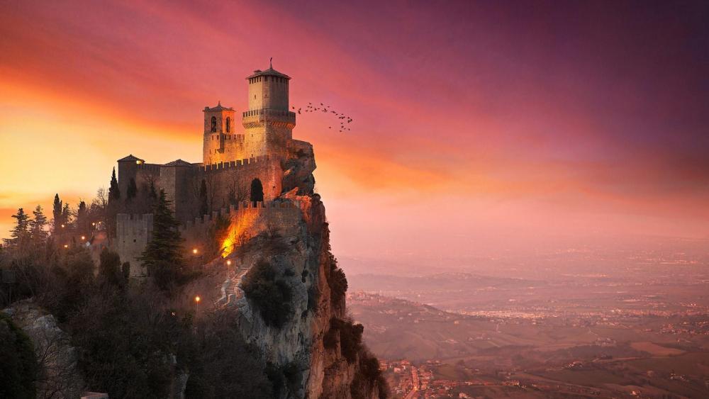 Guaita Fortress - Three Towers of San Marino wallpaper