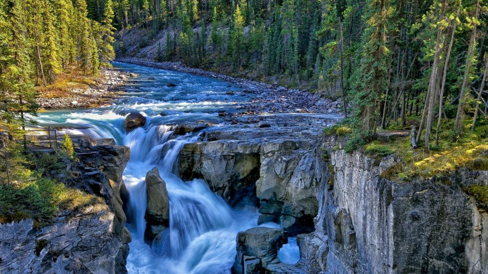 Sunwapta Falls - Jasper National Park (Canada) wallpaper
