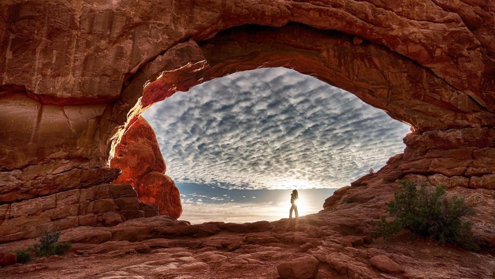 North Window Arch - Arches National Park wallpaper