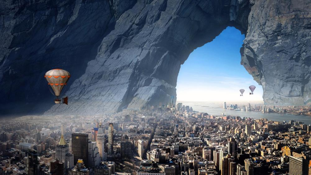 Alien city wallpaper