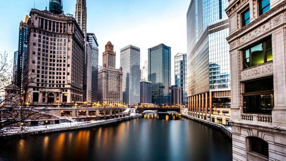Chicago River, Chicago wallpaper