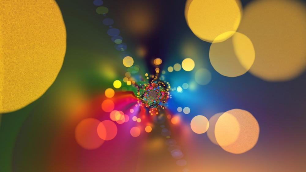 Bokeh lights abstract art wallpaper