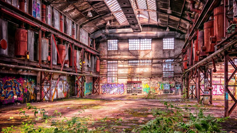 Lost place - Factory ruins wallpaper