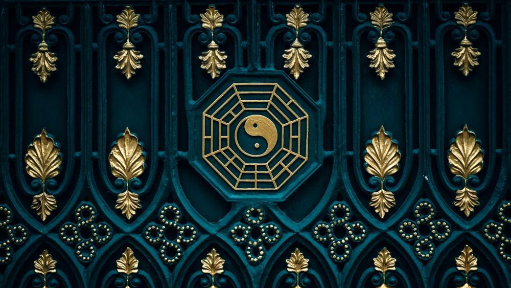 Yin Yang Buddhist spiritual symbol wallpaper