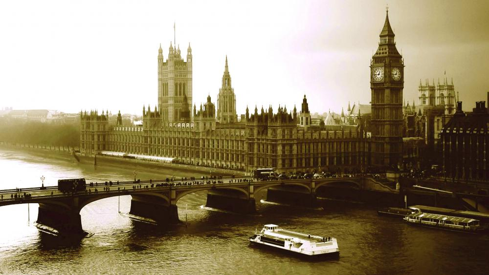 Historical photography of London wallpaper