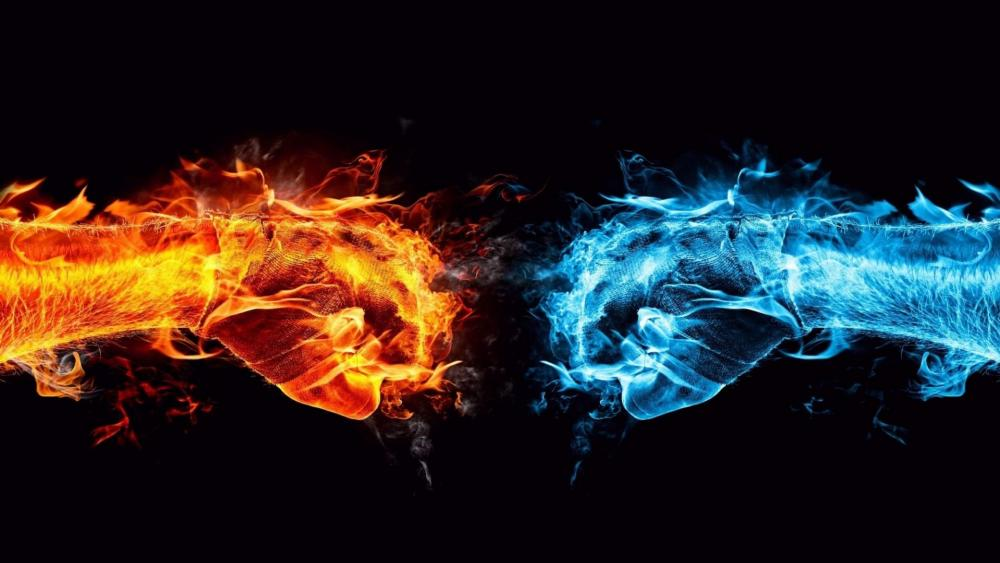Fire & Water wallpaper