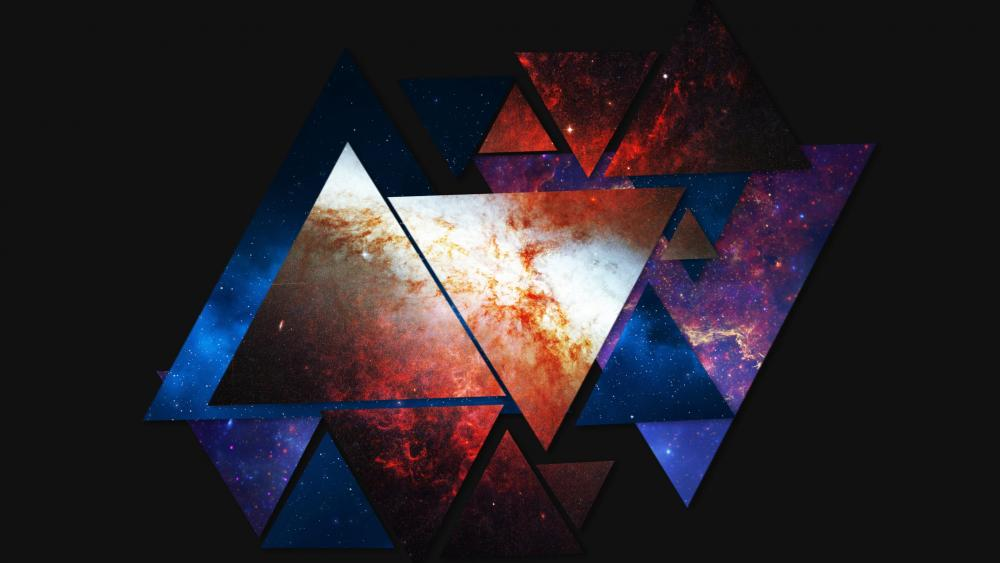 Abstract space triangles wallpaper