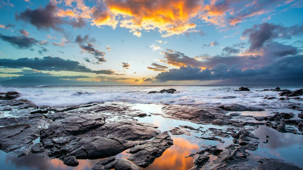 Hawaiian sunset wallpaper