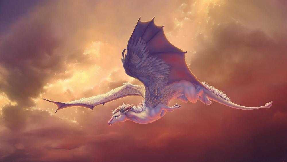 Pegasus Dragon wallpaper