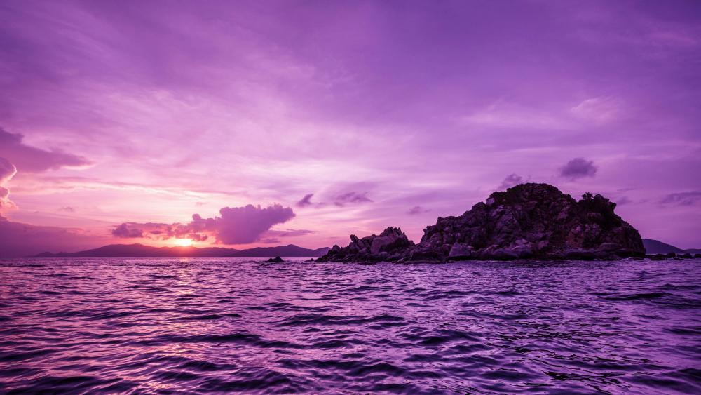 British Virgin Islands Sunset wallpaper
