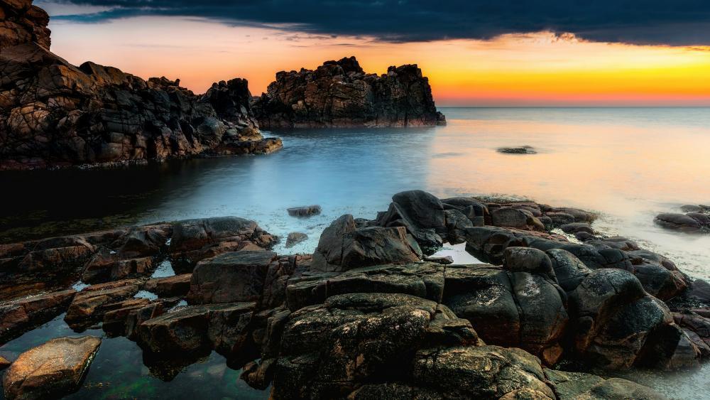 Hovs Hallar Coastline (Sweden) wallpaper