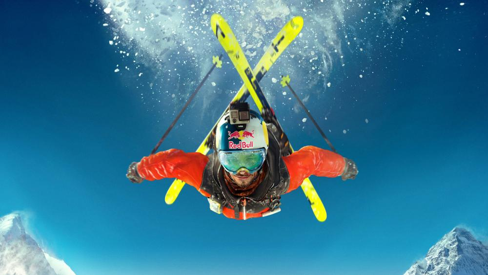Steep skiing wallpaper