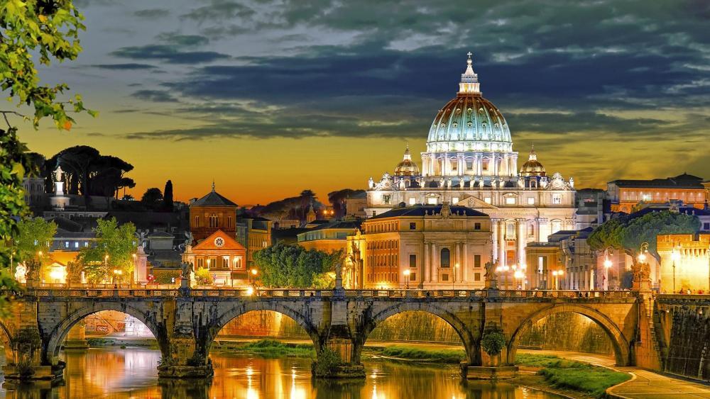 Vatican at Dusk wallpaper