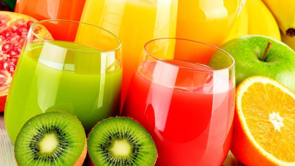 Healthy Fruit Juices wallpaper
