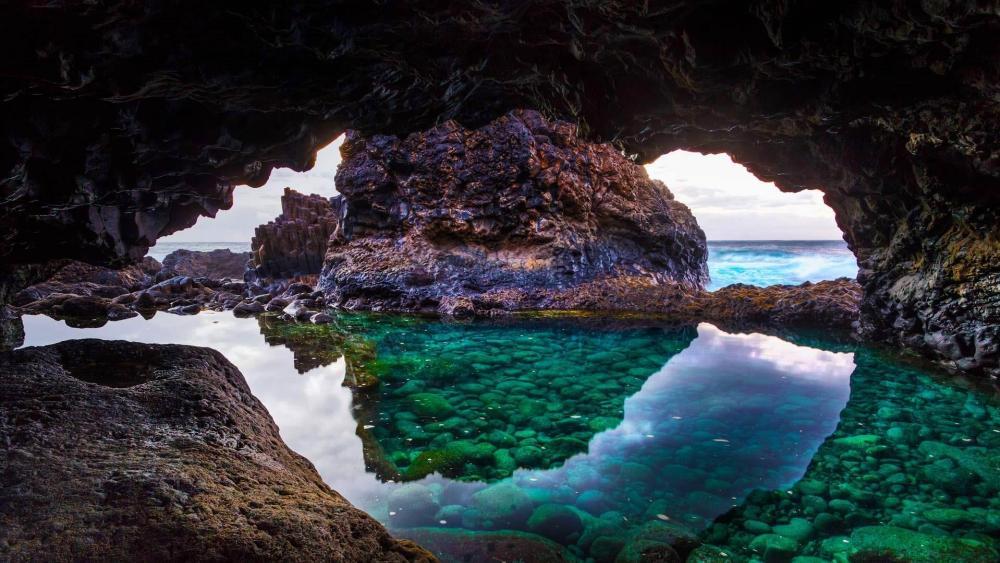 Cave on El Hierro Island, Canary Islands, Spain wallpaper