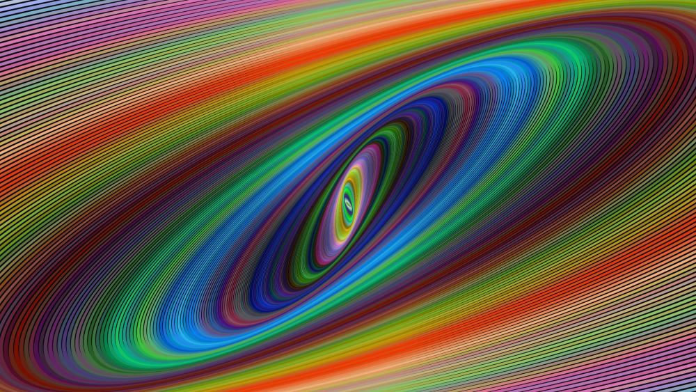 Colorful trajectory abstract art wallpaper