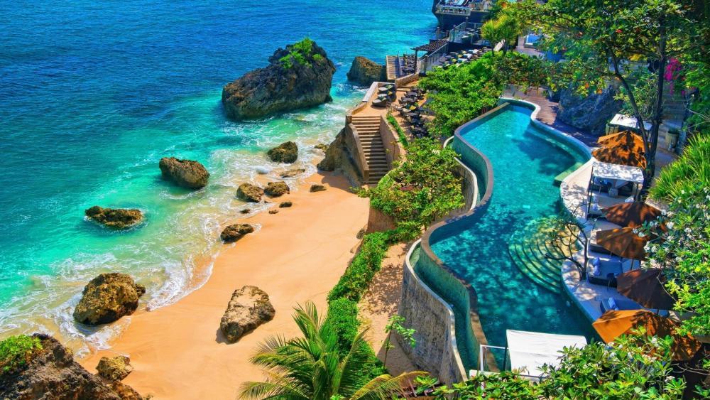 Beautiful beach in Bali wallpaper