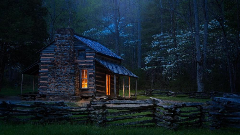 Carter Shields Cabin in Great Smoky Mountains National Park (Tennessee) wallpaper