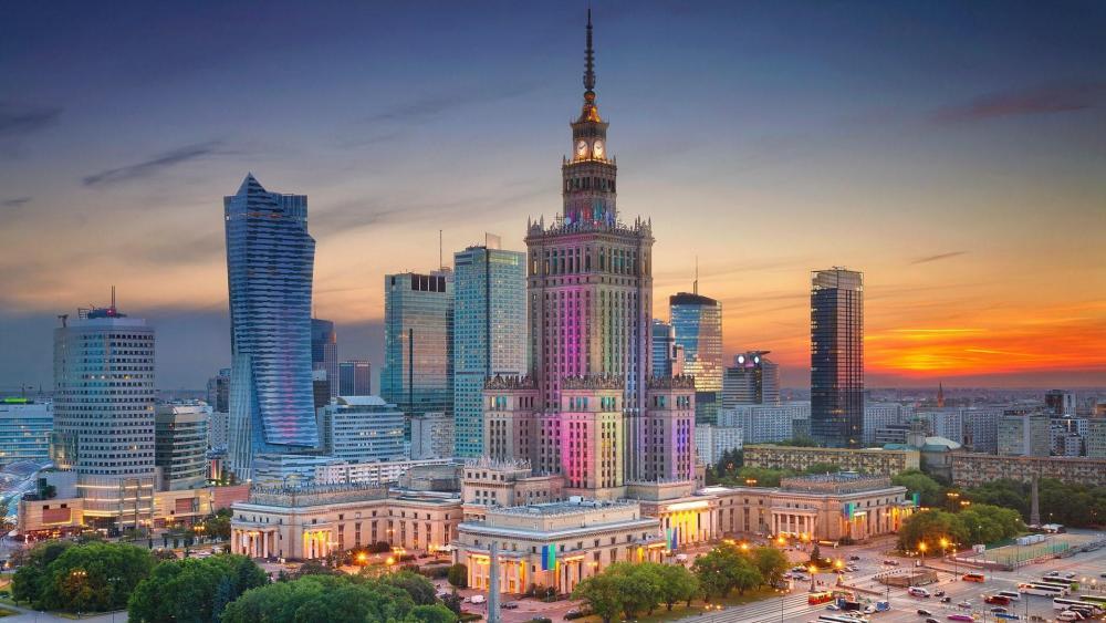Warsaw skyline wallpaper