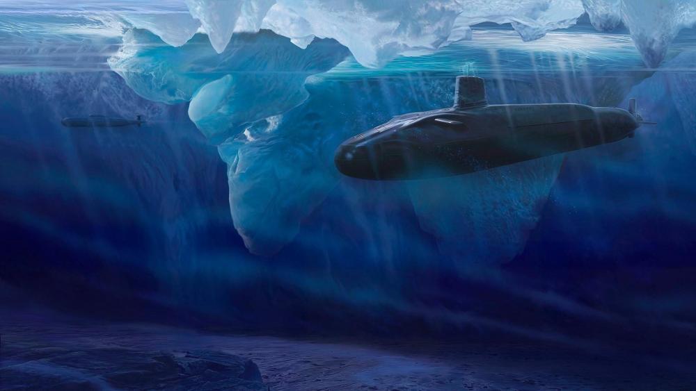 Submarine graphics art wallpaper