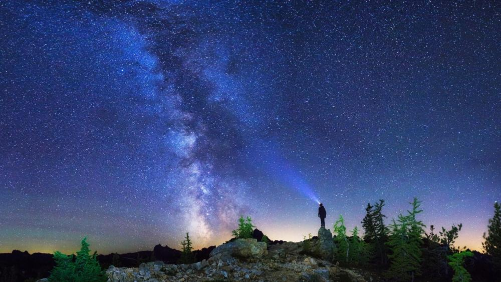 Milky way over North Cascades National Park wallpaper