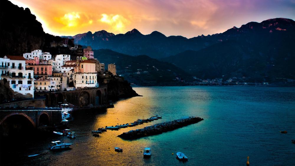 Amalfi at dawn wallpaper
