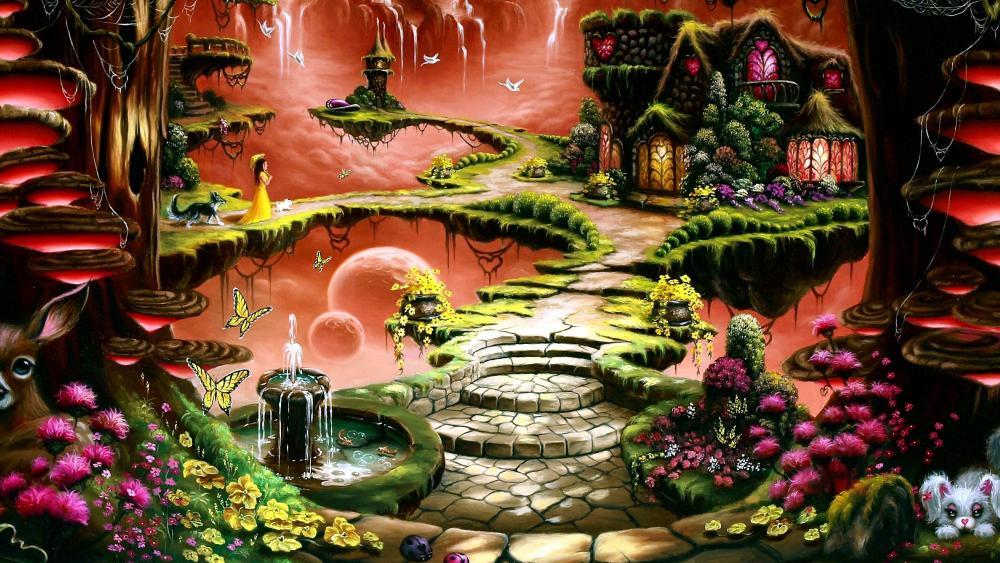 Fantasy Land Art wallpaper