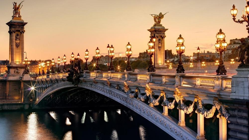 Alexandre III Bridge (Paris, France) wallpaper