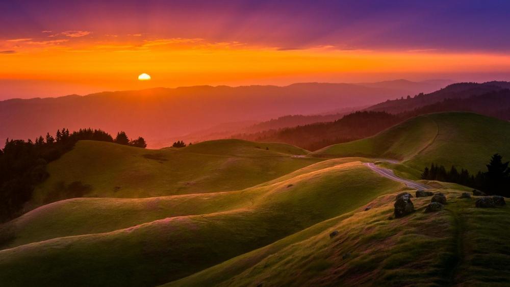 Mount Tamalpais during Sunset wallpaper