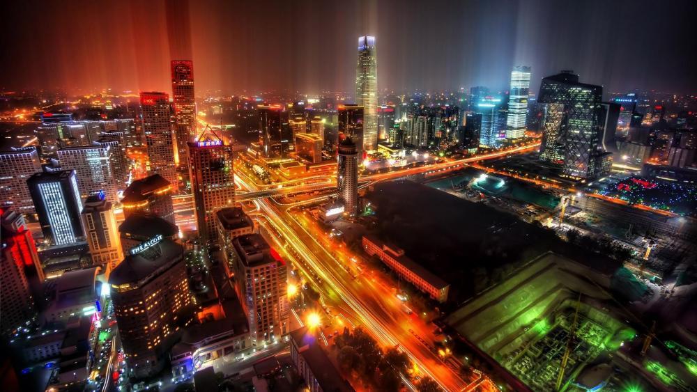 Beijing at night wallpaper