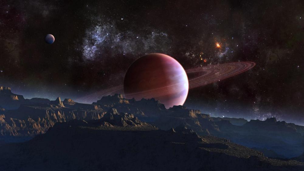 Alien planet - Space art wallpaper