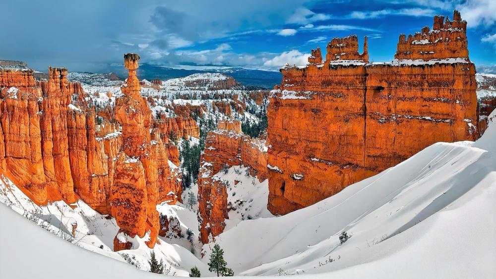Bryce Canyon winter wallpaper