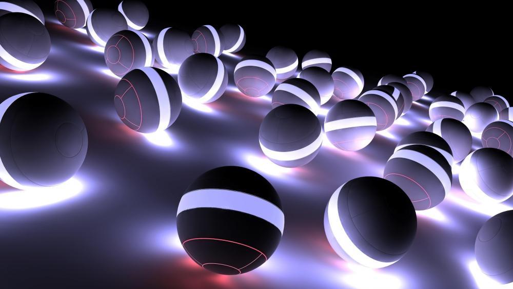 Light balls abstract art wallpaper